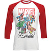 Marvel Comics Marvel Montage Raglan Baseball Long Sleeve T-Shirt (Large)