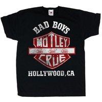 Motley Crue Bad Boys Shield Youth T-Shirt 12/13 years (XX-Large) - Cover