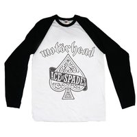 Motorhead Ace of Spades Raglan Baseball Long Sleeve T-Shirt (X-Large) - Cover