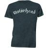 Motorhead Distressed Logo Mens Charcoal T-Shirt (Small)