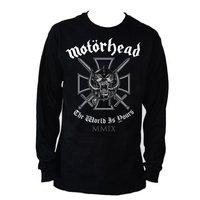 Motorhead Iron Cross Black Mens Long Sleeved T-Shirt (X-Large) - Cover