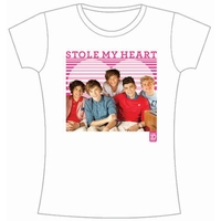 One Direction 1D Stole My Heart Skinny White T-Shirt (Large) - Cover