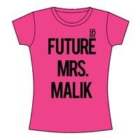 One Direction Future Mrs Malik Skinny Fuchsia T-Shirt (Large) - Cover