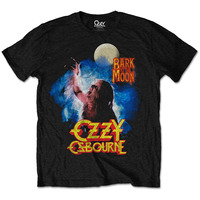 Ozzy Osbourne Bark At The Moon Mens Black T-Shirt (Small) - Cover