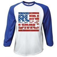 Run DMC American Logo Raglan Baseball Long Sleeve T-Shirt (XX-Large) - Cover