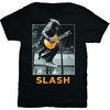 Slash Guitar Jump Mens Black T-Shirt (Small) Cover