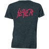 Slayer Distressed Logo Mens Charcoal T-Shirt (Large)