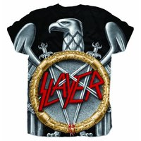 Slayer Silver Eagle Sublimation T-Shirt (Small) - Cover