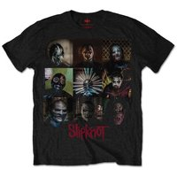 Slipknot Blocks Mens Black T-Shirt (X-Large) - Cover