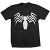 Ultimate Spider-Man Venom Chest Logo Mens Black T-Shirt (Large)