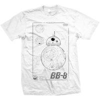 Star Wars BB-8 Tech Mens White T-Shirt (Medium) - Cover
