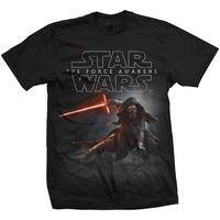 Star Wars EPVII Kylo Ren Crouch T-Shirt (XX-Large)