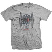 Star Wars First Order Distress Mens Grey T-Shirt (Medium) - Cover