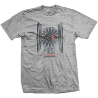 Star Wars First Order Distress Mens Grey T-Shirt (X-Large) - Cover