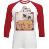 Star Wars Stormtroopers Raglan Baseball Long Sleeve T-Shirt (Large)