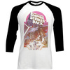 Star Wars The Empire Strikes Back Montage Raglan Baseball Long Sleeve T-Shirt (Large)