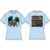 Abbey Road Ladies Light Blue Vintage Print T-Shirt (Large)