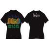 Ob La Di Ladies Black Vintage Print T-Shirt (Large)
