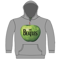 The Beatles Apple Hooded Top Grey (Small) - Cover