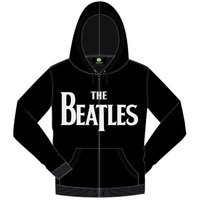 The Beatles Drop T Hooded Top Black (Small) - Cover