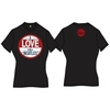 The Beatles I Love The Beatles Vintage Ladies Black T- Shirt (Large)