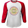 The Beatles Sgt Pepper Red & White Baseball Long Sleeve T-Shirt (X-Large)