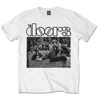 The Doors Jim On Floor Mens White T-Shirt (Medium) - Cover