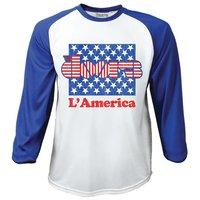 The Doors L'America Raglan Baseball Long Sleeve T-Shirt (Medium) - Cover