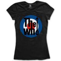 The Who Target Classic Black Ladies T-Shirt (Medium) - Cover
