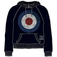 The Who Target Distressed Black Mens Hoodie (XX-Large) - Cover