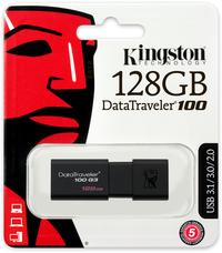 Kingston DataTraveler 100 G3 128GB USB 3.0 Flash Drive - Cover