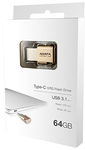 ADATA UC350 64GB USB 3.1 Type-C Flash Drive - Gold