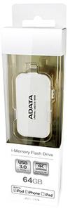 ADATA i-Memory UE710 64GB Flash Drive - White - Cover