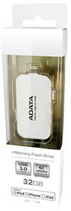 ADATA i-Memory UE710 128GB Flash Drive - White - Cover