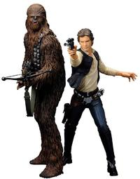 Star Wars Han Solo and Chewbacca ArtFX Statue - Cover