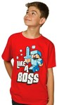 Minecraft Like a Boss Youths T-Shirt (X-Large)