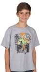 Minecraft Vintage Alex Youth T-Shirt (X-Small)