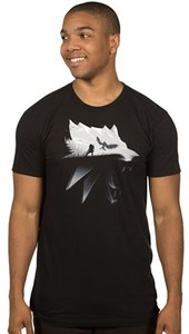 The Witcher 3 - Wolf Silhouette Premium T-Shirt (XX-Large) - Cover