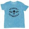 Avenged Sevenfold Classic Deathbat Flock Mens Blue T-Shirt (Medium)