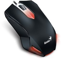 Genius X-G200 USB Optical Gaming Mouse - Black/Red - Cover