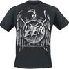 Slayer Hi Contrast Eagle Puff Print T-Shirt (X-Large)