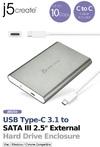 j5 create JEE253 USB TYPE-C 3.1 to SATA III 2.5 inch External Hard Drive Enclosure