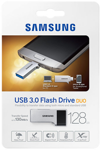 Samsung Duo On the Go 128GB USB 3.0 Flash Drive - Cover