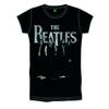 The Beatles Iconic & Logo Boys Black T-Shirt (Large)