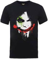 Batman Arkham City Halloween Joker Face Mens T-Shirt (XX-Large) - Cover