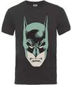 Batman Head Large Mens Charcoal T-Shirt (Small)