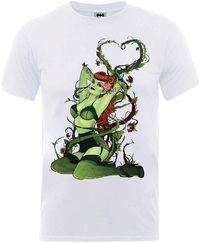 Batman Poison Ivy Bombshell Mens White T-Shirt (XX-Large) - Cover