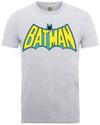 Batman Retro Logo Mens Heather Grey T-Shirt (X-Large) Cover