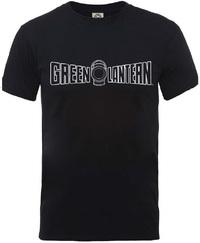 Green Lanthern Crackle Logo Mens Black T-Shirt (Medium) - Cover
