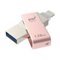 PQI - 128GB iConnect mini USB 3.0/Lightning Silver USB Flash Drive - Cover